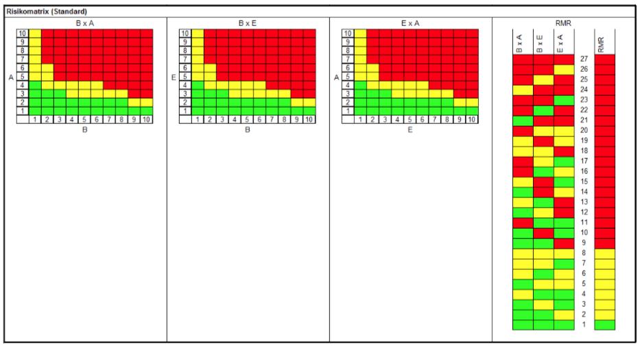 Risikomatrizen mit RMR
